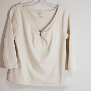 Natural Cream Top, Talbot's, Size Large
